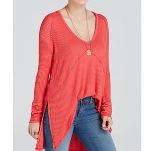 SALE Free People Coral Long Sleeve Thermal Top